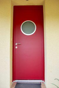 Porte entrée aluminium Marine rouge Cerizay -79