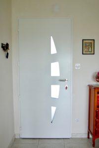 Porte entrée alu type jonque - côté intérieur Bressuire -79