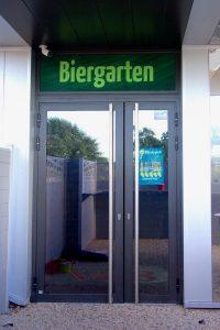 Porte entrée aluminium RAL 7022
