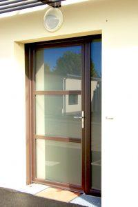 Porte entrée vitrée Ral 8019