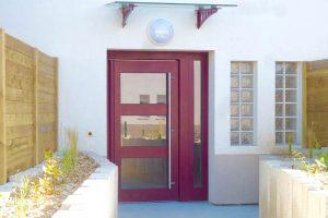 Porte extérieure alu ouverture automatique